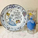 2014 Tokyo Disney Resort Cinderella Glass & Plate Set Made in Japan Dish saucer