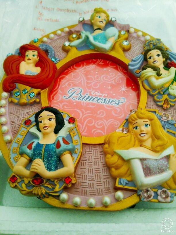 1900s Disney Princess Photo Frame Stand Cinderella Bell Ariel Snow White