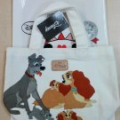 Disney Kiddy Land Lady and the Tramp Tote Bag Hand Shopping Pouch Ladies
