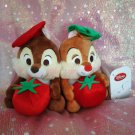 Disney Store Japan Limited Chip & Dale Yummy Pasta Plush Doll Tomato figure