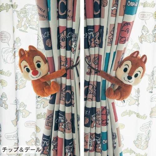 Disney Chip & Dale Plush Doll Curtain Tassel Doorway Holder Cafe Curtain