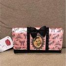 Disney store Japan limited Aristocat Marie Ribbon long Wallet pink black purse