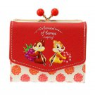 Disney Store Japan Hello Chip and Dale Berry Wallet purse Case Ladies
