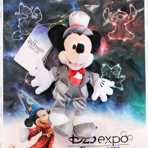 D23 Expo Japan 2018 Mickey Mouse Plush Doll Badge Doll Disney Store