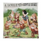 Disney Store Japan Snow White and Seven Dwarfs FOLK WOOD LAND Cushion Cover Case