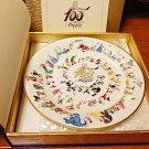 Walt Disney's 100th Anniversary Memorial Plate 100 Character Plate