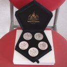 2003Tokyo Disney Land 20th Anniversary Sterling Silver Medal Set Coin