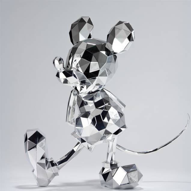 2016 Polygo Mickey Mouse Silver Event Limited Color Figure Doll One Festival Sum