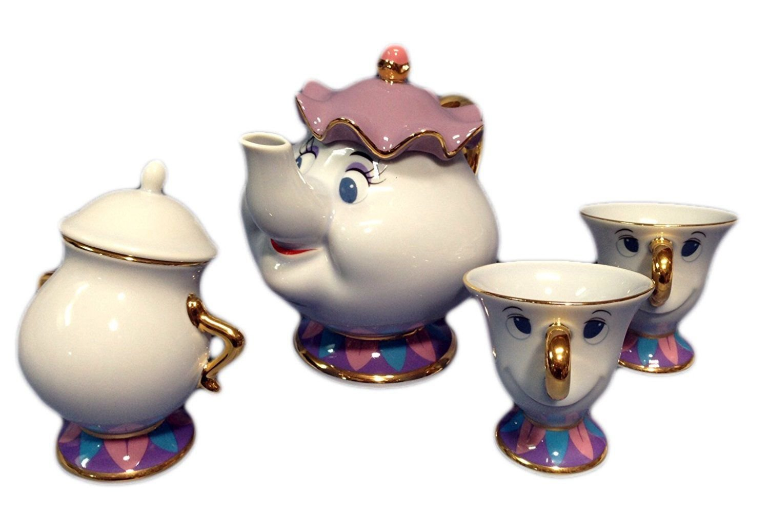 Disney Resort limited release Beauty and the Beast Pot Mrs. and Chip Tea pot