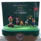 Disney Mickey Mouse & Friends Golf Set Clockwork Figure Clock