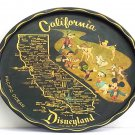 1955 California Disneyland Opening dish Resort Tin Plate Mickey map picture
