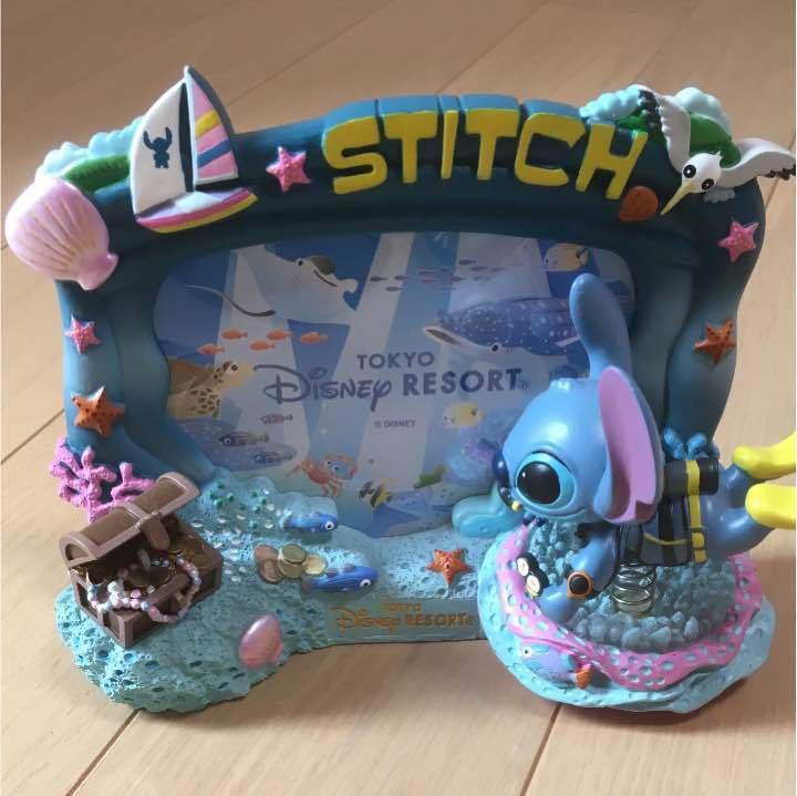 Tokyo Disney Resort Stitch Figures Photo frame Stand holder Acryliccase Ornament