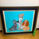 1970's The Lady and Tramp Large Embroidery Painting Art Antique Big Wall Picture