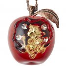 Q-pot Snow White Maelty Venomous Apple Necklace Swarovski Pendant