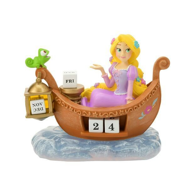Disney store Japan Rapunzel Perpetual calendar Figure desk ornament