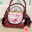 Disney Store Japan Alice in Wonderland Baby Ribbon Red purse bag tote Hand Gama