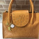 Disney Beauty and the Beast Bell Leather Skin Tote Bag Handbag with Embossed Cha