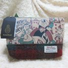 Disney Harris Tweed Pouch Alice case Pochette Mini Bag Heart Queen