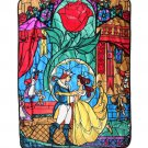 Disney Beauty and the Beast Stained glass pattern blanket bell