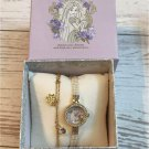 Disney Rapunzel pearl wristwatch & bracelet set bangle Gift