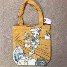 Disney Store Japan Pinocchio Tote Bag Hand Pouch Shijira weave Case Yellow