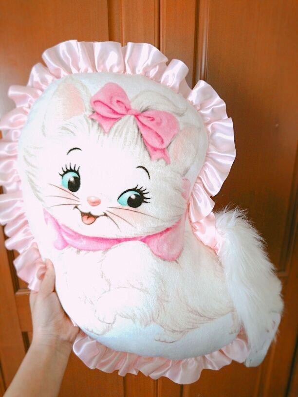 Disney store Japan Arist the Cat Marie tail Cushion Pink ribbon Homewares