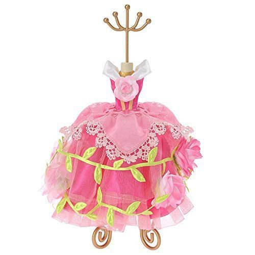 Disney Store Aurora princess rose Dress Accessory Stand Jewelry Holder Piercing
