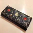 Disney Store Japan Beauty and the Beast Bell Long Wallet purse black Rose