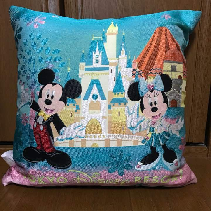 2015 Tokyo Disney Resort UCC Original Cushion Sleeping Beautys Castle Cinderella