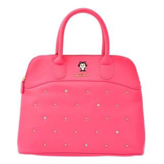 Disney Store Japan Boston L Pinocchio Studs Figaro Tote Bag Pink