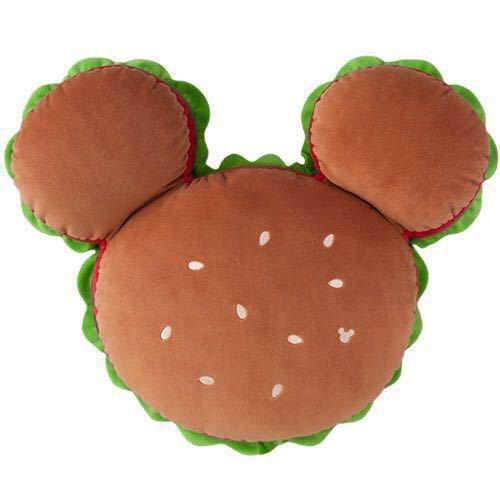 Tokyo Disney Resort Mickey Mouse Hamburger Shape Big Cushion TDS