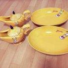 Tokyo Disney Resort Aladdin Curry Pot & Curry Plate Set Yellow Disney Sea