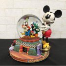 Mickey & Friends with snow globe music box 100years of MAGIC figure Doll Globe