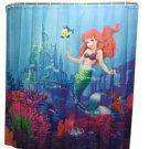 Little Mermaid Ariel Bathroom Shower Curtain Partition Flanders Sebastian