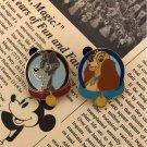 Disney Lady and the Tramp pin badge set pin