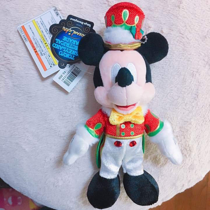Disney Land Mickey Electrical Parade Plush toy badge Christmas Limited Doll