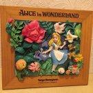 1900s Tokyo Disneyland Alice in Wonderland Resin 3D picture figure Ornament TDR