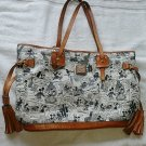 Dooney & Bourke Disney Mickey Mouse Comic Pattern Tassel Tote Bag Hand shoulder