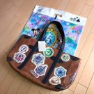 Tokyo DisneySea 15th Anniversary Grand Finale Vintage Luggage Tote Bag Patch Tot