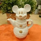 Tokyo disneyland Mickey Mouse Snowman Tea For One Set Cafe cup & Pot set