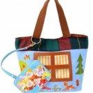 Disney Store Japan Seven Dwarfs Pass Case with Mini Tote Bag Hand Snow White