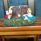 Disney Alice in Wonderland & White Rabbit Figure Planter Case Flowerpot