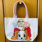 Disney  Lady & Trump Lunch Embroidery Tote Bag  Large size Big Hand bag case