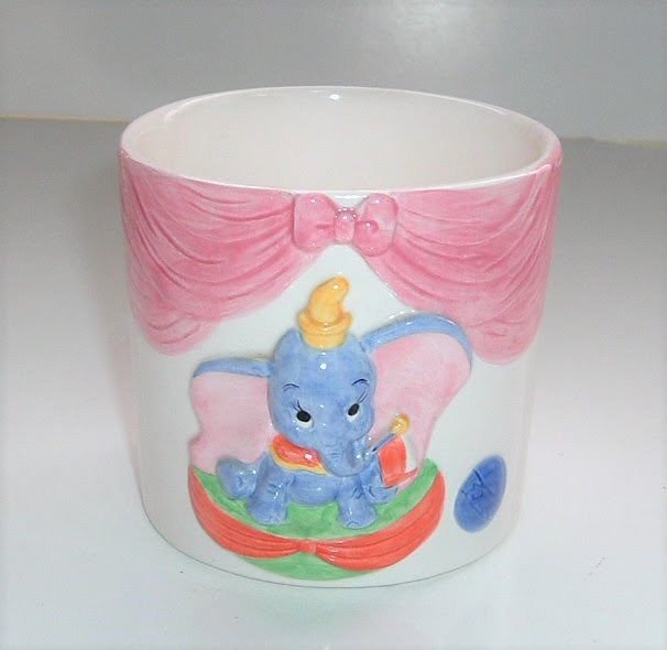 Disney Dumbo Flower pot Plant case container 3D figure Bowl Pottery Cup