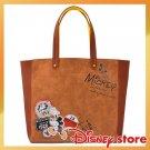 Disney Store Japan Vintage Mickey & Minnie Tote Bag Large Shoulder Hand Patch FS