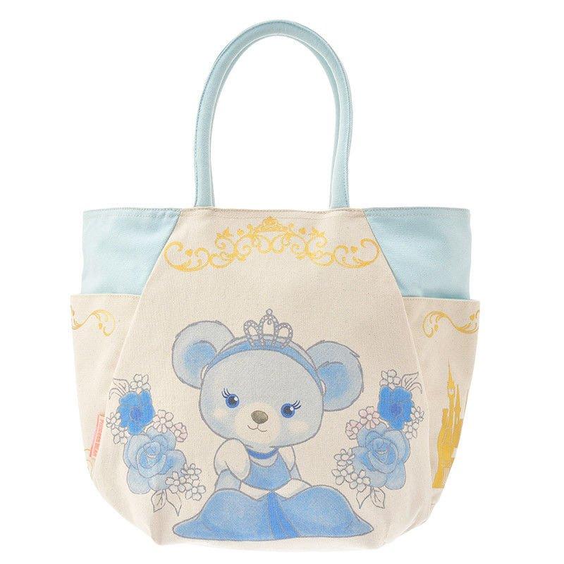 Disney Store Japan Unibearcity Cinderella Tote Bag Blue Rose School Bag