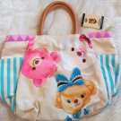 Disney Store Japan Uni Bear City Tote Bag Handbag Pouch Shoe Milk Souffle