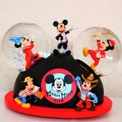 Disney Mickey Mouse Club Donald Snow Globe Snow Dome Fighting Ornament