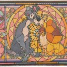 Disney Lady & Trump Stained glass design series  Leather wallet Made in JAPAN
