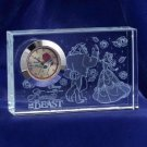 Beauty and the Beast Premium Crystal Desk Clock Glass Figure Ornament